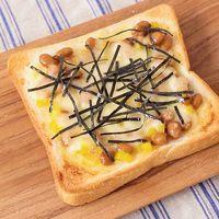ポリポリ たくあんと納豆のチーズトースト