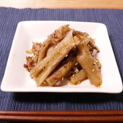 簡単常備菜!たたきごぼうのだし煮