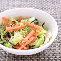 レンジで簡単 白菜の中華磯辺和え