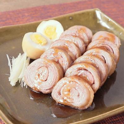 めんつゆで簡単 くるくる豚バラチャーシュー
