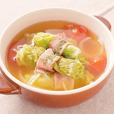 簡単 ロール白菜スープ