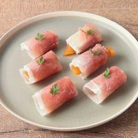あんぽ柿とクリームチーズの生ハム巻き