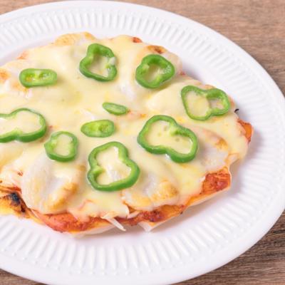 笹かまぼこのもちピザ