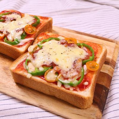サラミのピザトースト