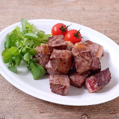 お肉を味わう サイコロステーキ