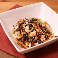 レンジで簡単 豆腐とひじきの和え物