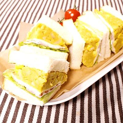 お弁当にも!カレー風味のポテサラサンドイッチ