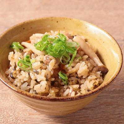 福豆ときのこの炊き込みご飯