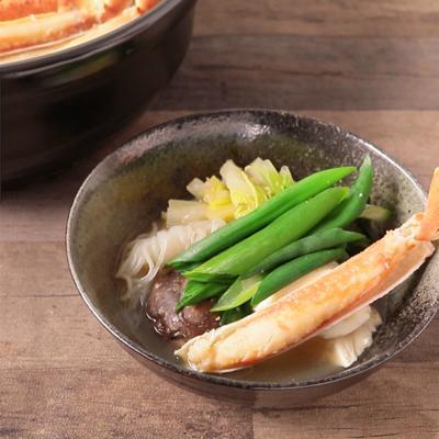 わけぎたっぷり カニすき味噌鍋
