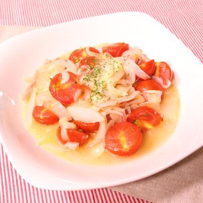 ミニトマトとベーコンのチーズ焼き