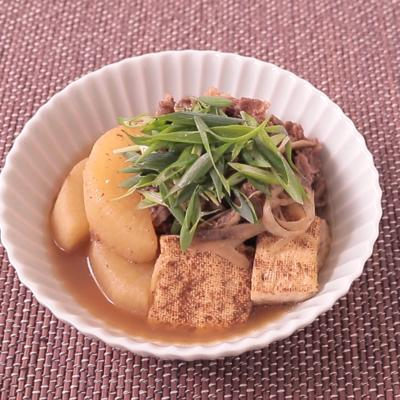 電子レンジでお手軽肉豆腐