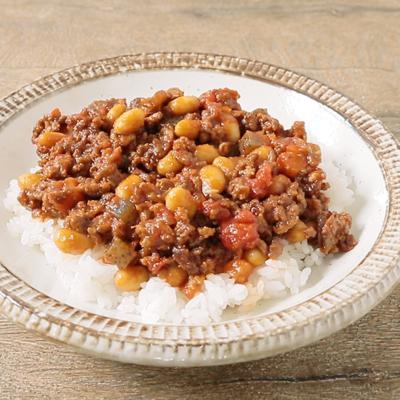 五目煮豆リメイク キーマカレー