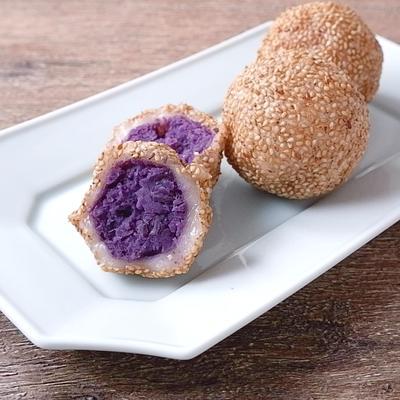 紫いものほくほくごま団子