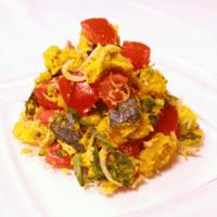 彩り華やかな和サラダ!かぼちゃのカリカリしらすサラダ