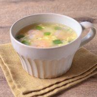 エビとピーマンの中華スープ