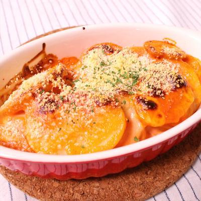 簡単副菜 オーロラチーズポテト