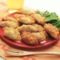 納豆チーズの揚げ餃子