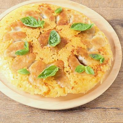 パリパリチーズの羽根付きイタリアン餃子
