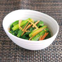 小松菜の辛子酢和え