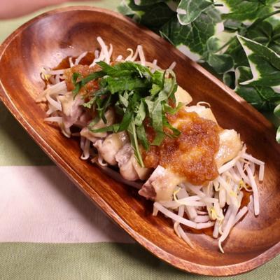 レンジでさっぱり蒸し鶏サラダ