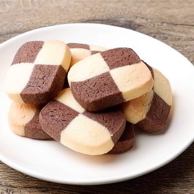 米粉でチェックアイスボックスクッキー