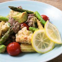 カラフル野菜と牛肉のさっぱり塩レモン炒め