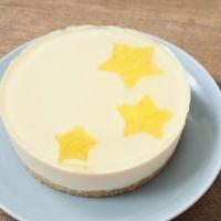 お星様が可愛い レアチーズケーキ