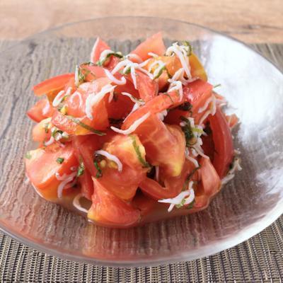 柚子胡椒風味 しらすとトマトのさっぱり和え物