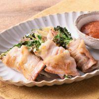 ブロッコリースプラウトと香味野菜の豚肉巻き