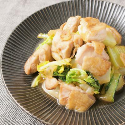白菜と鶏もものガリバタ炒め