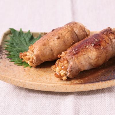 豚肉とえのきの山椒ポン酢焼き