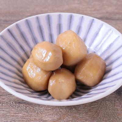 材料3つ 里芋のコク旨めんつゆバター煮