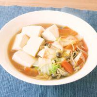 ご飯が進む 白菜と豆腐の和風の煮物