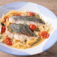 セージ香る白身魚の白ワイン煮込み