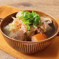 ごろごろ野菜の和風スープ