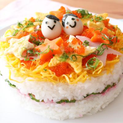 キラキラ七夕 ちらし寿司ケーキ
