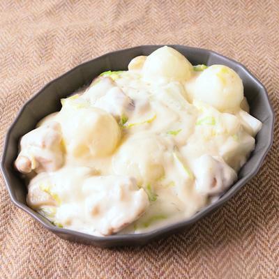 ペコロスと白菜のチキンクリーム煮