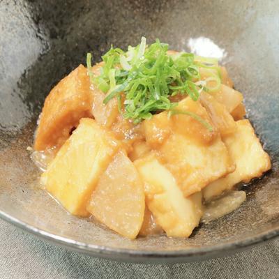 大根と厚揚げの味噌炒め
