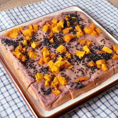 紫いもとかぼちゃのしっとり豆腐ケーキ