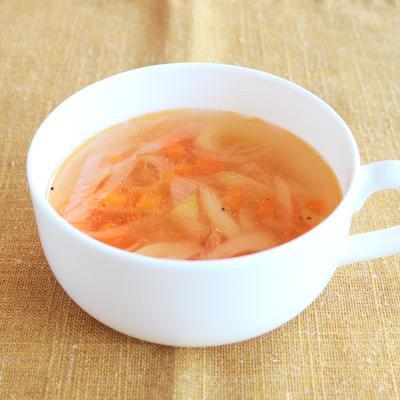 中華風ザーサイと長ねぎのスープ