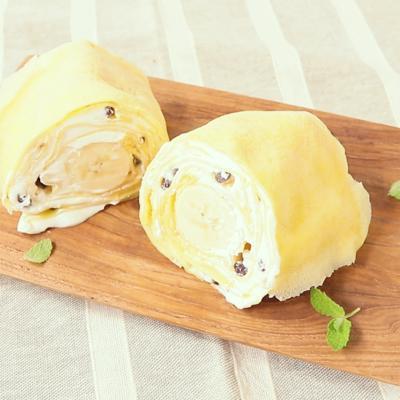 丸ごとバナナのミルクレープロールケーキ