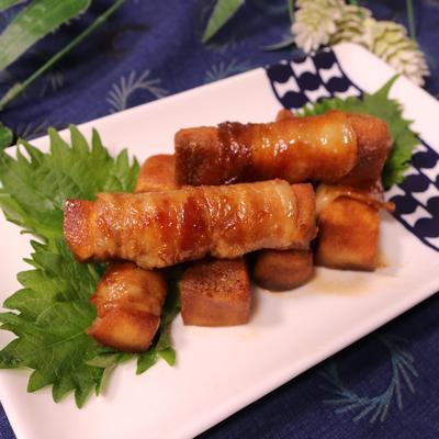 高野豆腐の豚肉巻き照り焼き