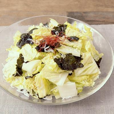 白菜としらすのチョレギサラダ