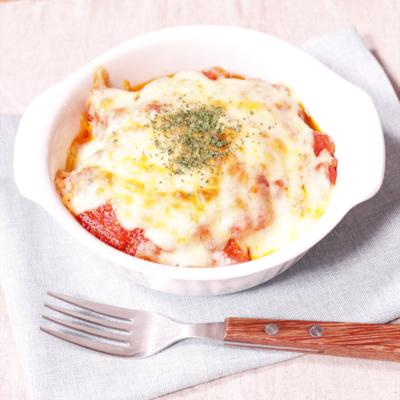 サワラとナスのトマトソースチーズ焼き