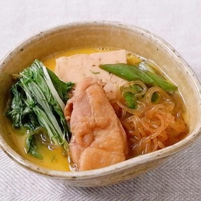 水菜たっぷり はりはり鶏すき焼き