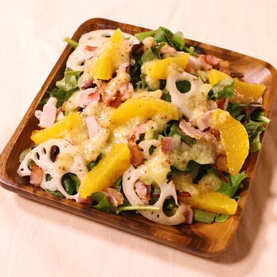 塩麹ドレッシングで食べる クレソンサラダ