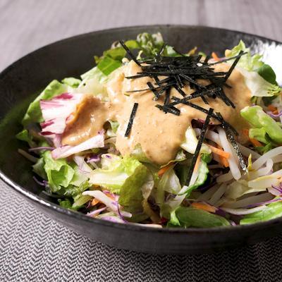 カット野菜で ごまだれ温野菜サラダ