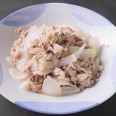 塩だれレモンソースで豚の生姜焼き