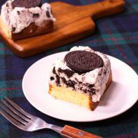 固めるだけで簡単!クッキーチーズケーキ