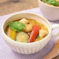牛乳で作る お手軽グリーンカレースープ